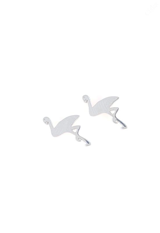 Flamingó Ezüst Fülbevaló