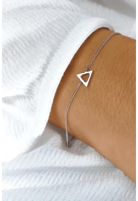 Háromszög Medálos Ezüst Karkötő