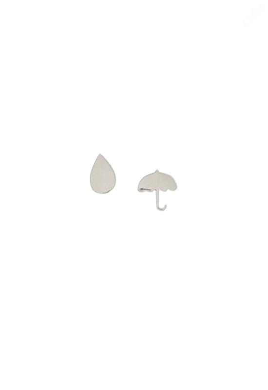 Ezüst Esernyő Fülbevaló
