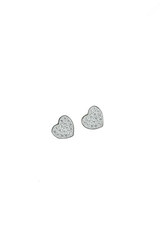 Ezüst Szív Fülbevalók