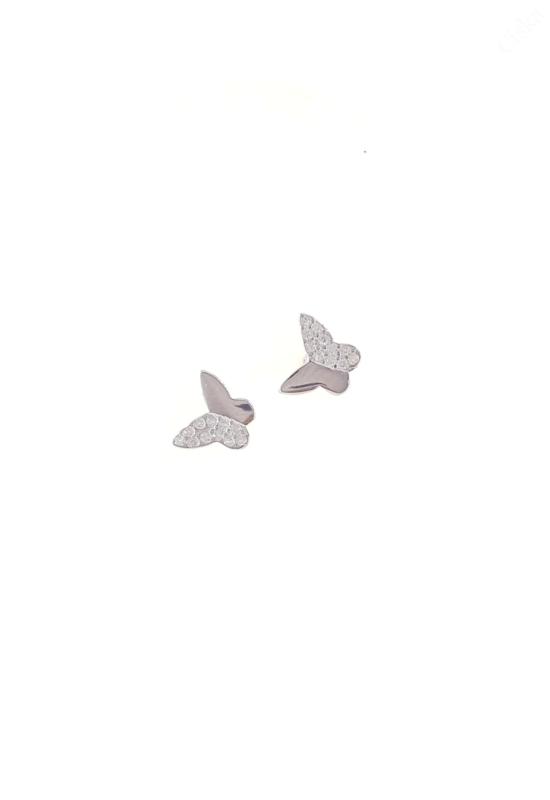 Ezüst Pillangó Fülbevalók